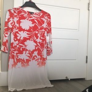 Dresses - Brand New! Size Small Orange/White Dress